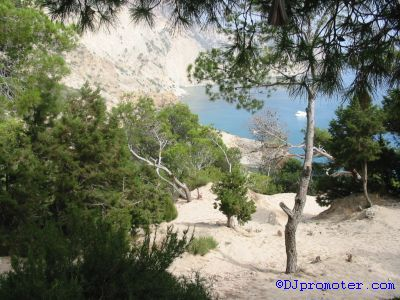 View from opposite Es Vedra near crypt