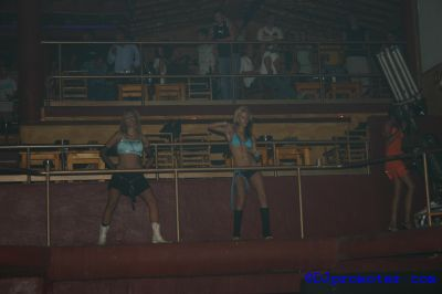 Cocoon at Amnesia, podium dancers in main room