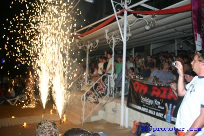 Mambo bar front during fire show