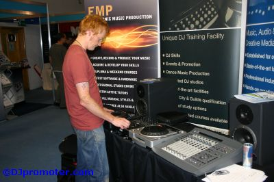 DJ at exhibition stand