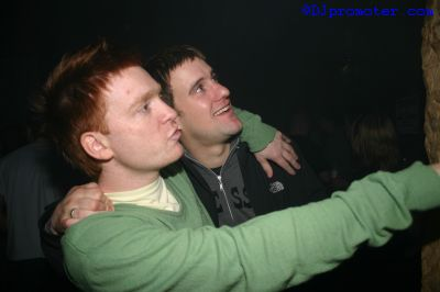 Two male clubbers