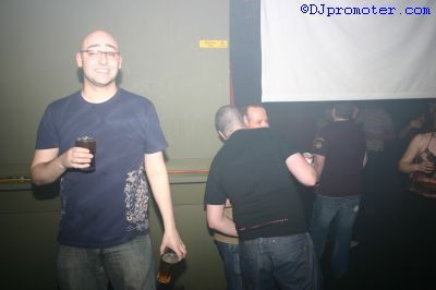 Male clubber posing