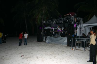 DJ stage in VIP area