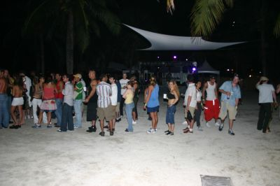 Queue for bar in VIP area